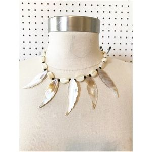 Jewelry - Mother of pearl carved Native necklace